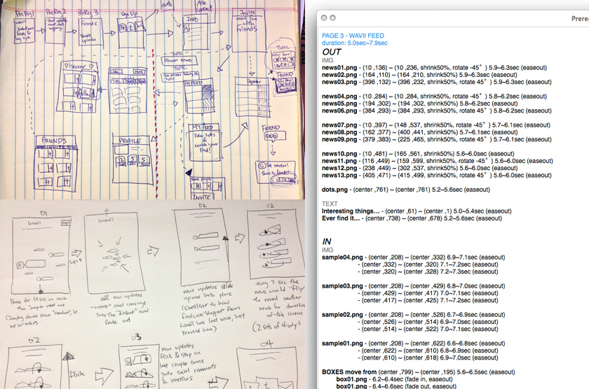 Sketch Designs & Detailed Animation Specs for the 1st Time Experience