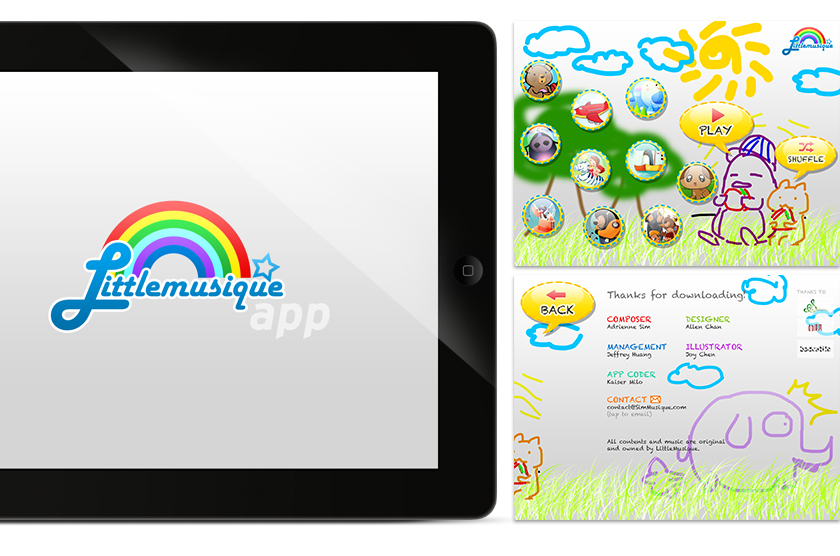 Rough Designs of LittleMusique App