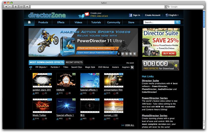 Current CyberLink DirectorZone Website