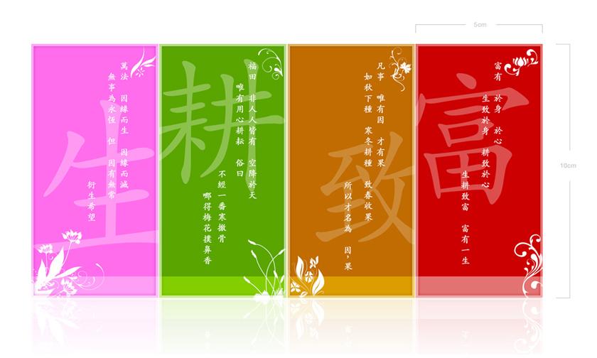 BLIA Seasons Postcard Souvenir - Back