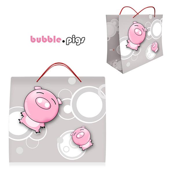Shopping Bag Design - Bubble Pigs