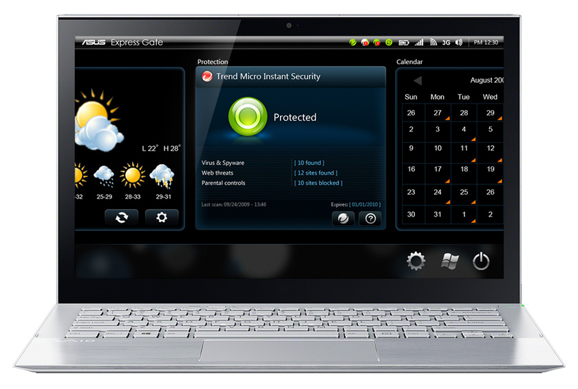 Instant On Security Widget for Asus Express Gate