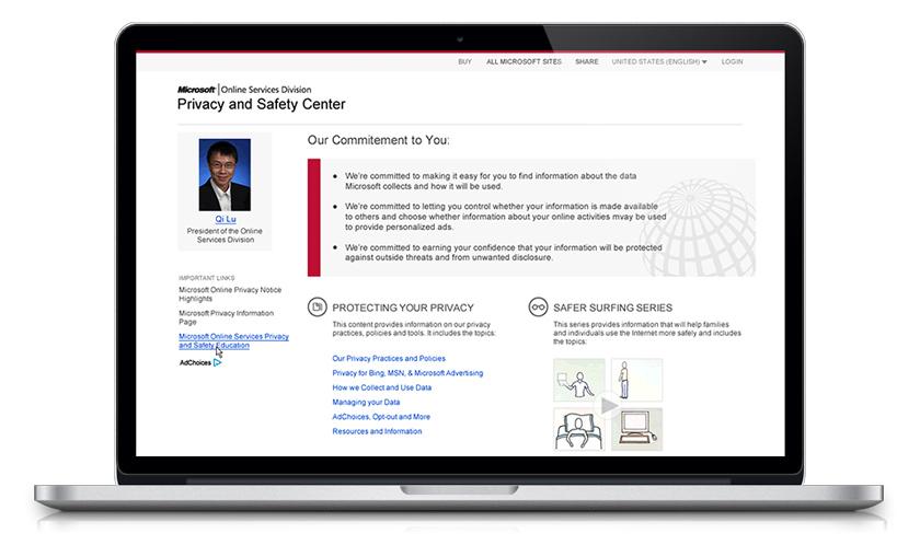 Microsoft OSD Privacy & Safety Center