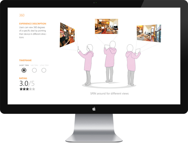 360 Sensory Ad Concept Allowing Users to Look Around a Lodging as If They Are Present