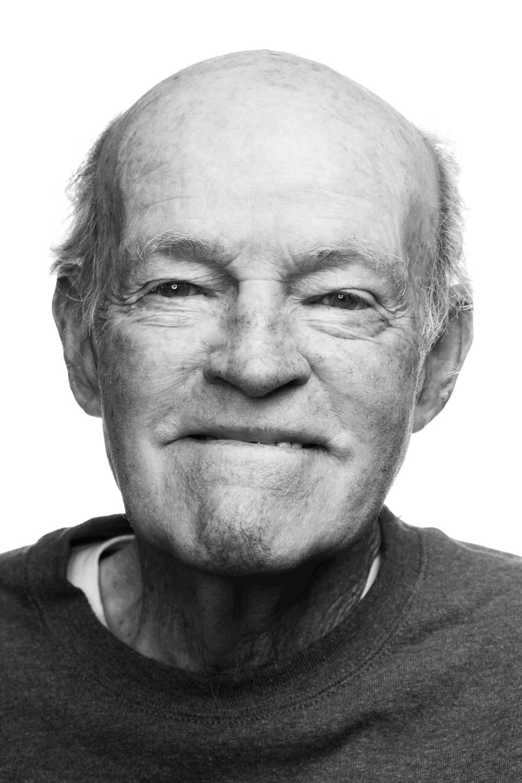 Man on white background, studio photography, black and white portraits, senior citizen