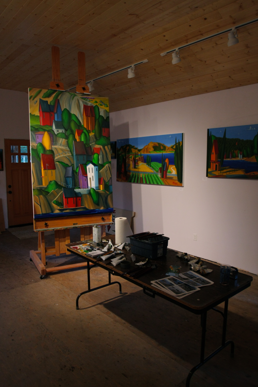 An early image from the Mayne island studio