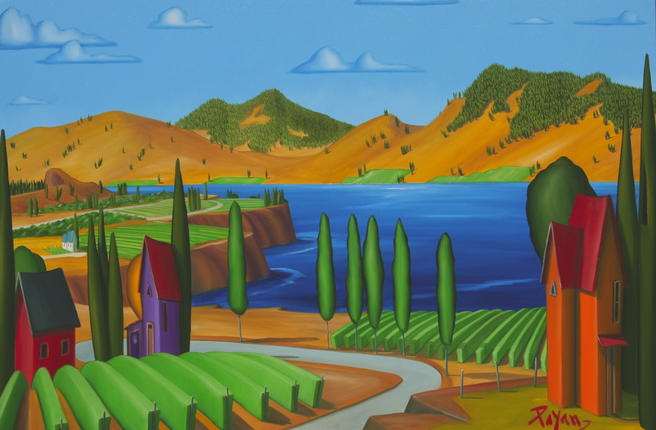Okanagan Lake Vineyard