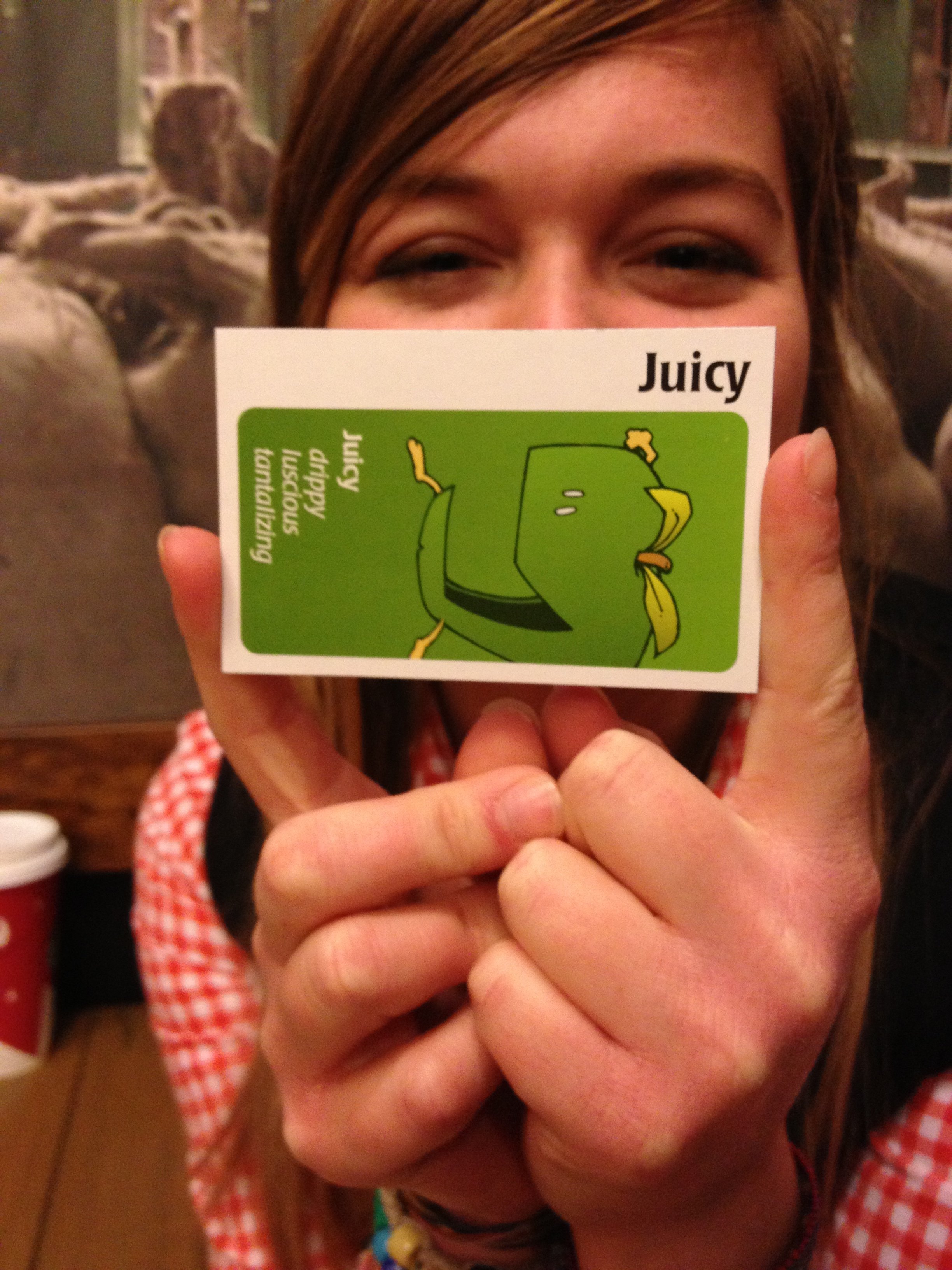 Britt - Apples To Apples with Interns at Starbucks 2012.JPG