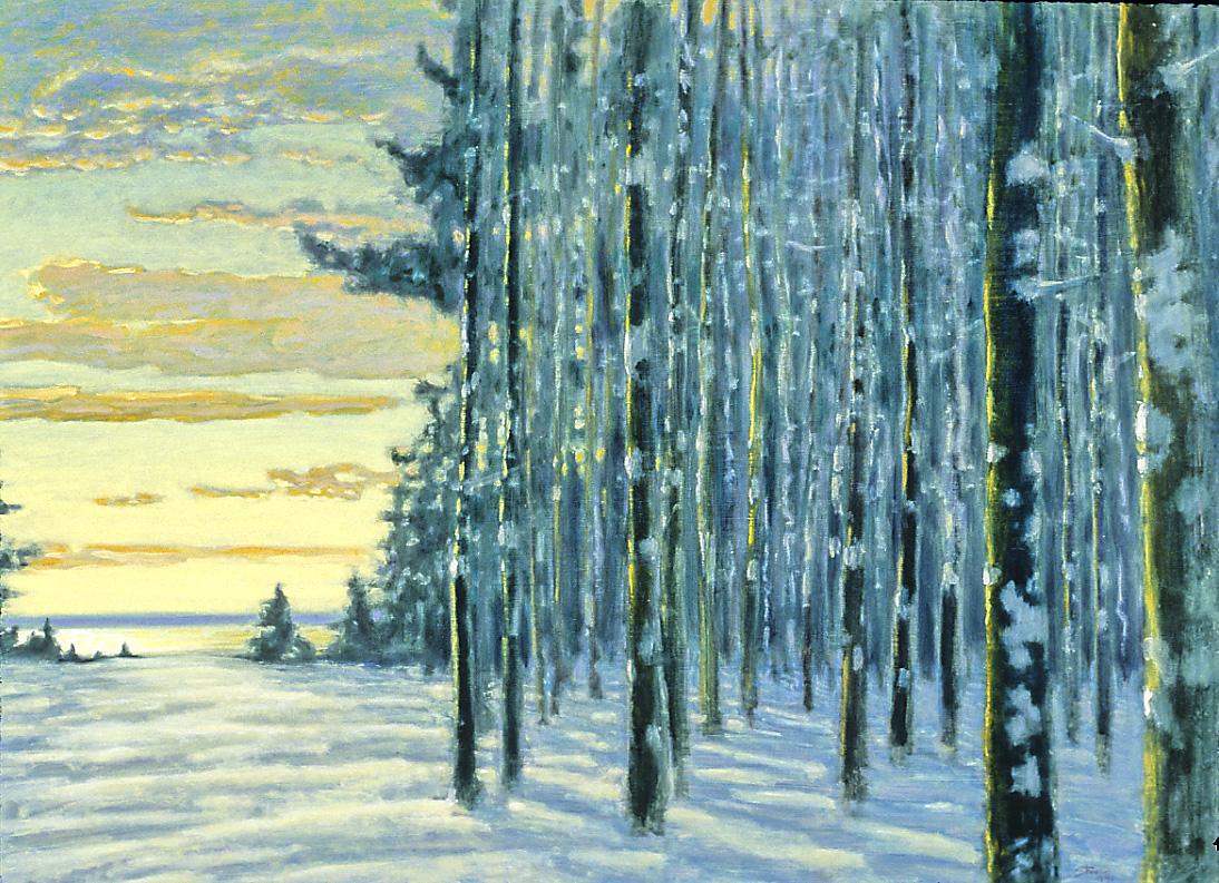 "Winter Grove   | oil on panel | 20 x 28"" | 1995"
