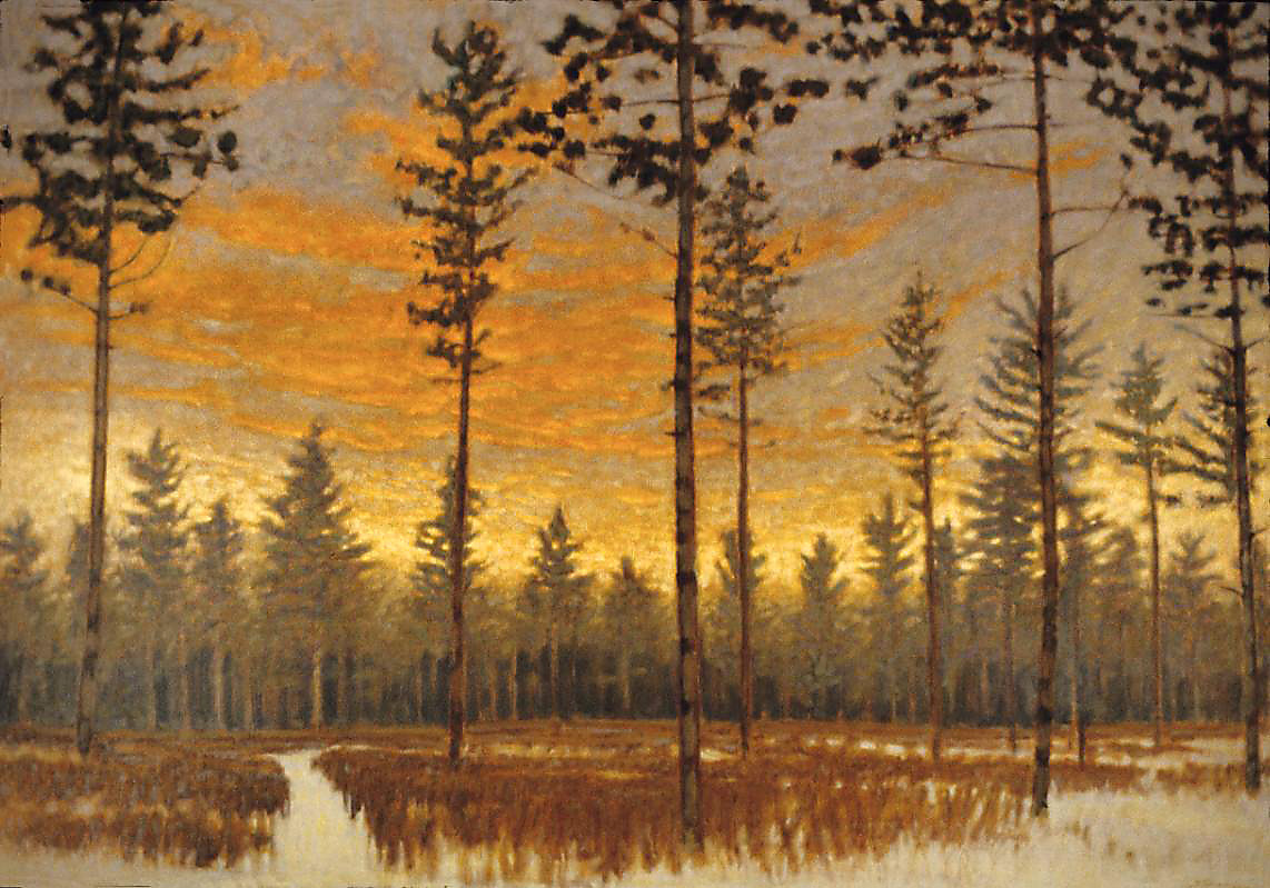 Dusk In The Pines   | oil on canvas | 39 x 56"