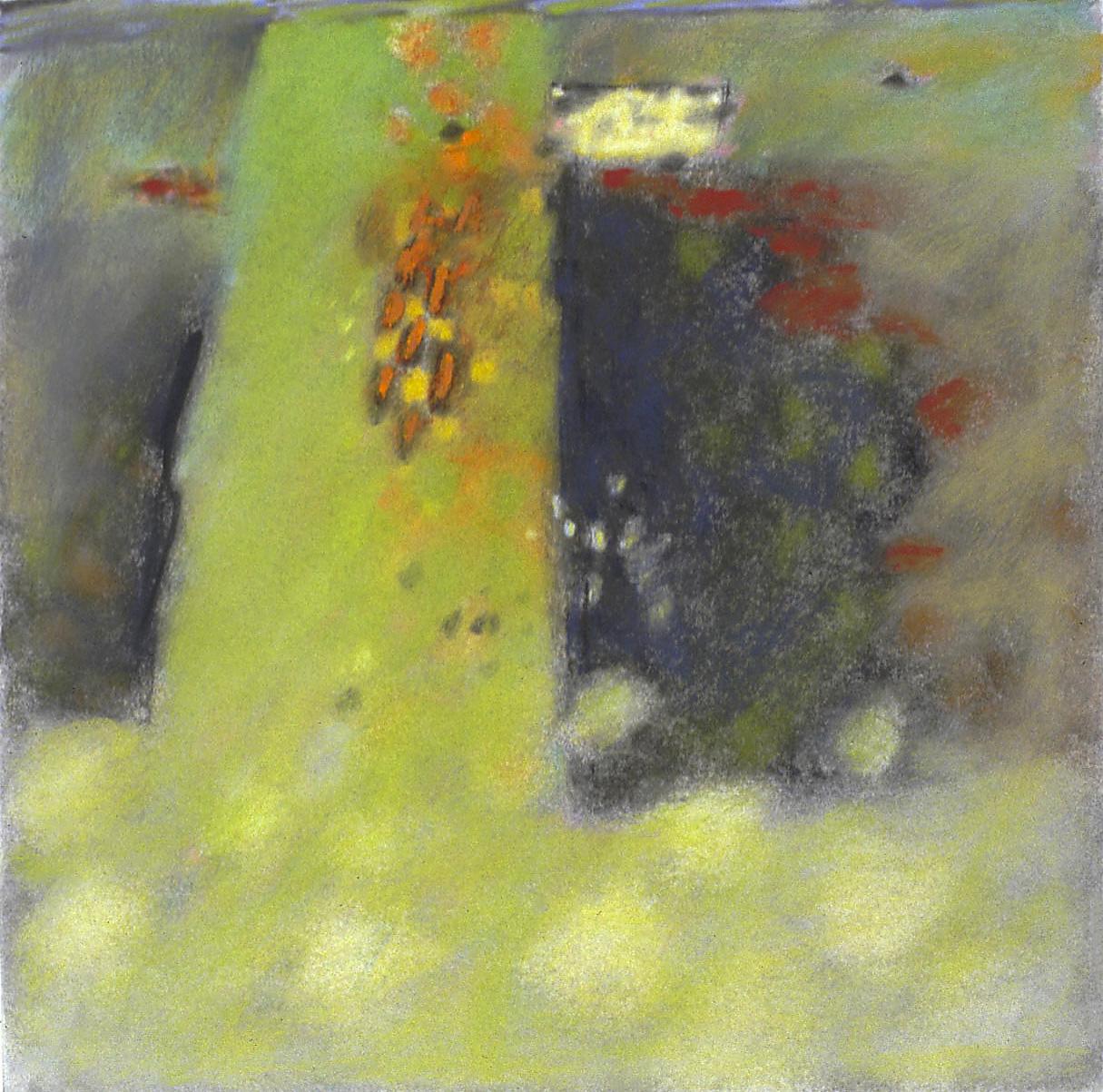 "16-03 | pastel on paper | 14 x 14"" | 2003"