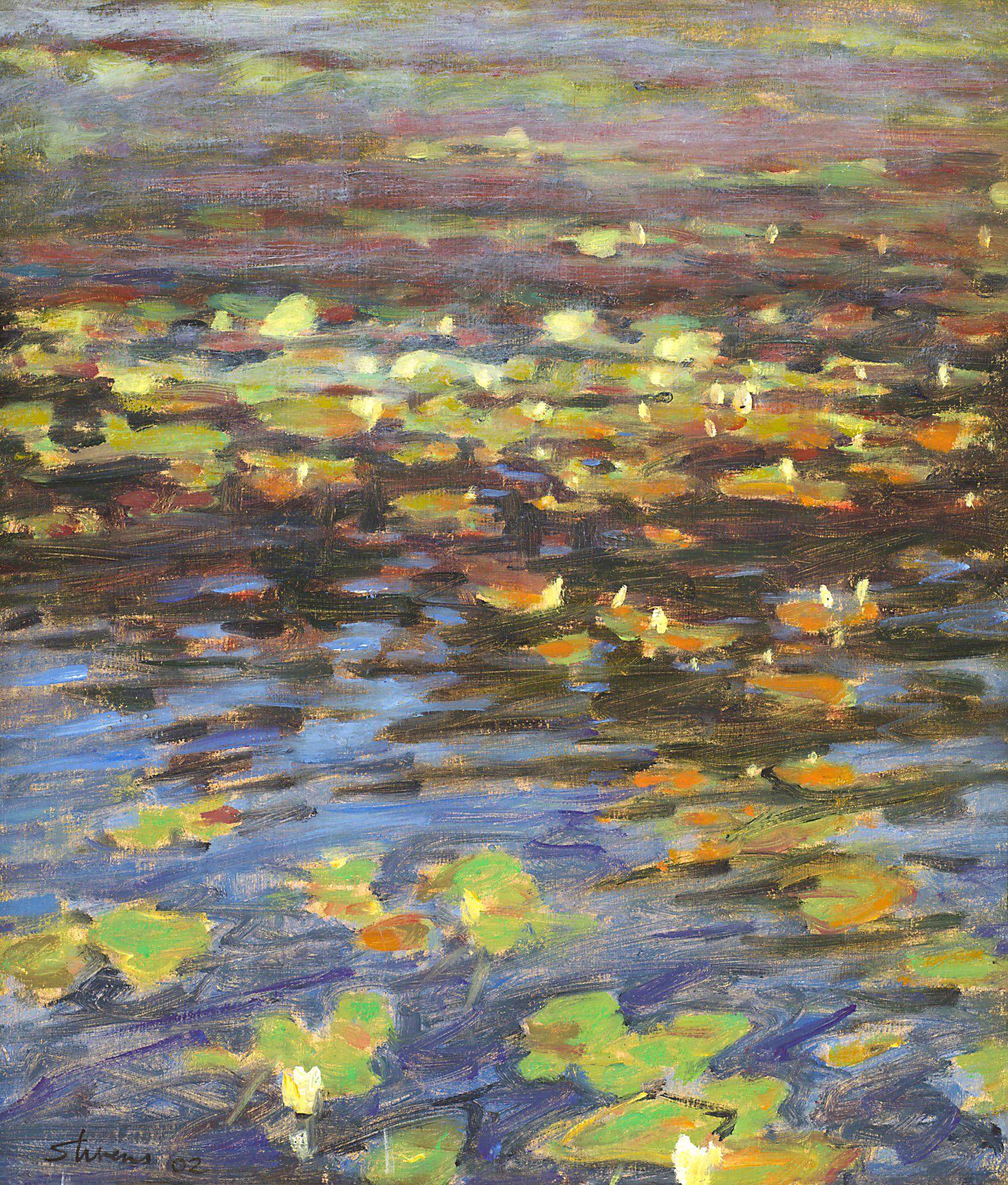 "Lilypads   | oil on panel | 15 x 12"" | 2002"