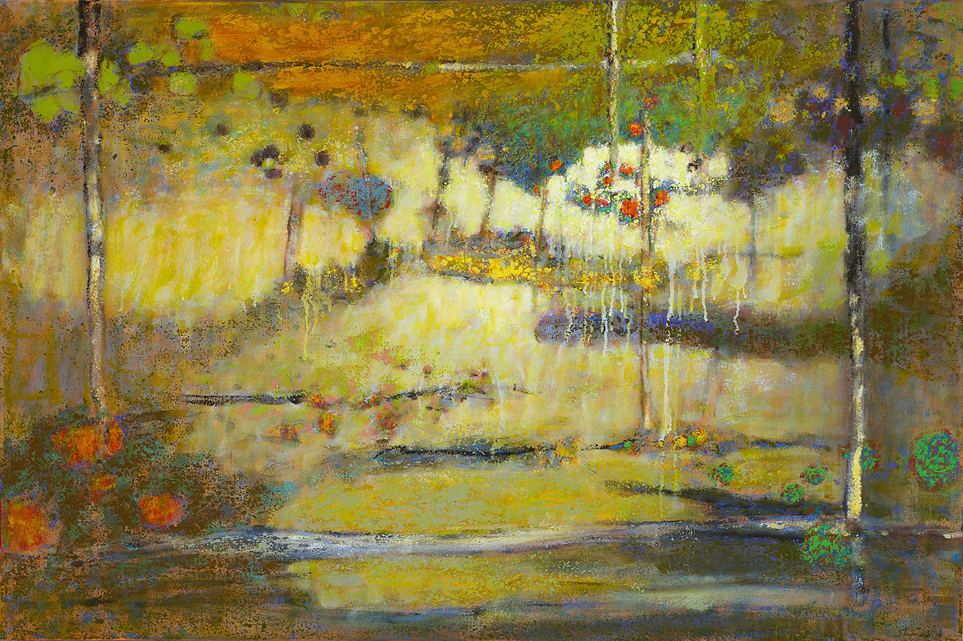 """Sun Showers     oil on canvas   32 x 48""""   2014"""