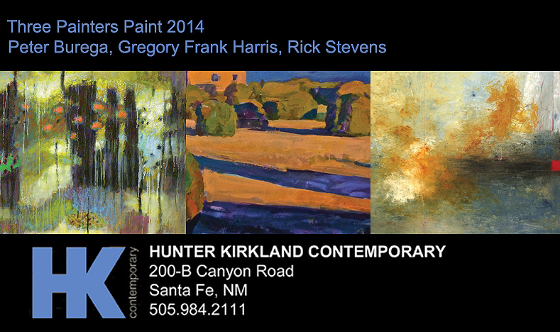 Rick's work will be featured at the Hunter Kirkland Contemporary group exhibition   Three Painters Paint  . Opening tonight! |