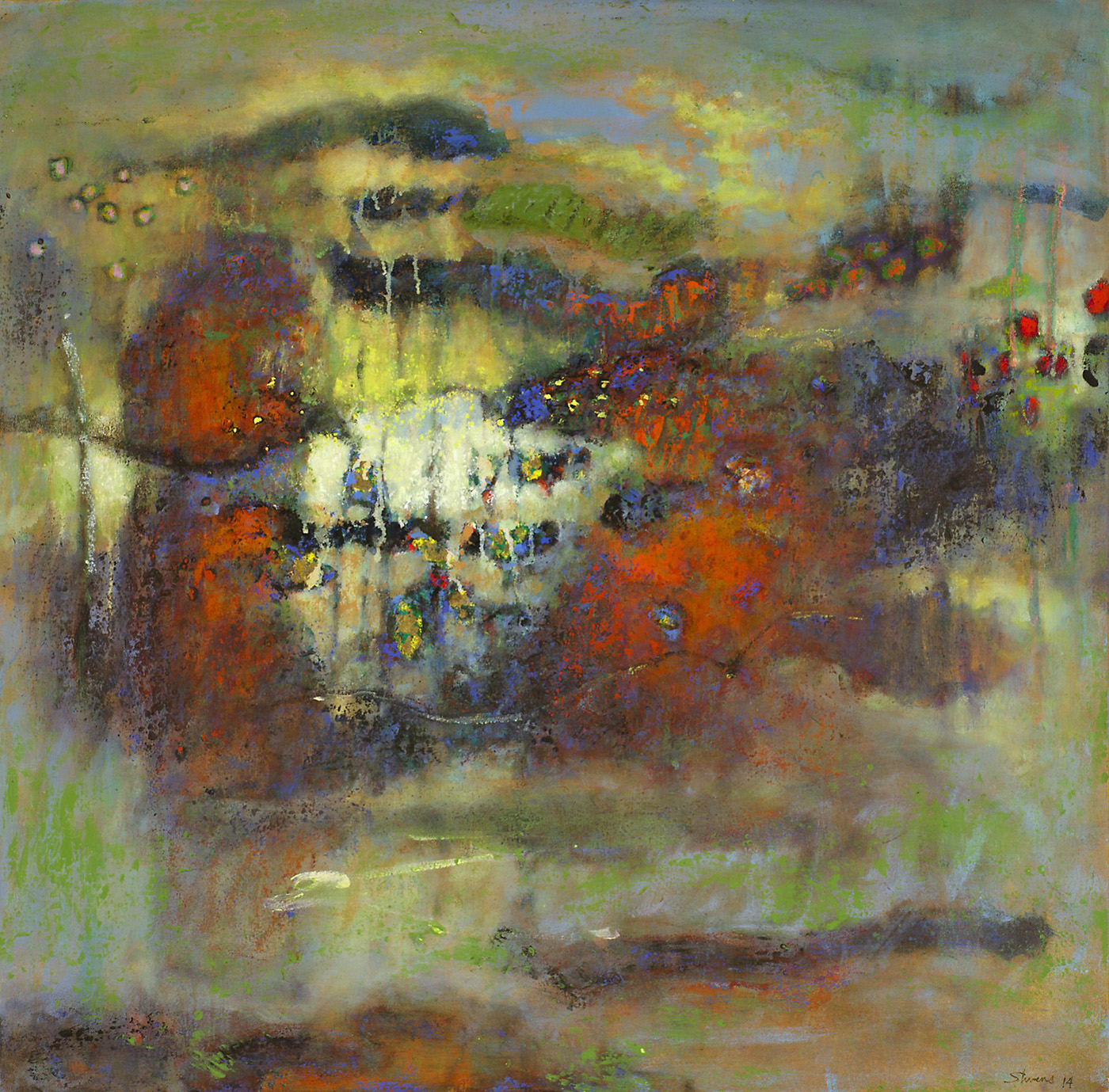 Converging Currents   | oil on canvas | 32 x 32"