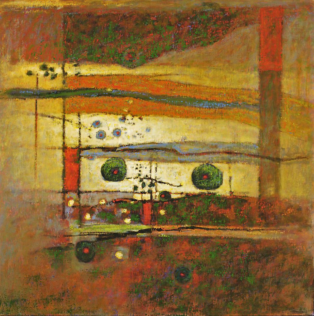 "Power Spot   | oil on canvas | 48 x 48"" | 2008"
