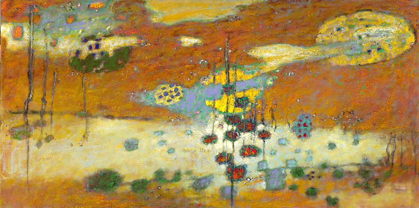 "Sky of Mind   | oil on canvas | 36 x 72"" | 2012"