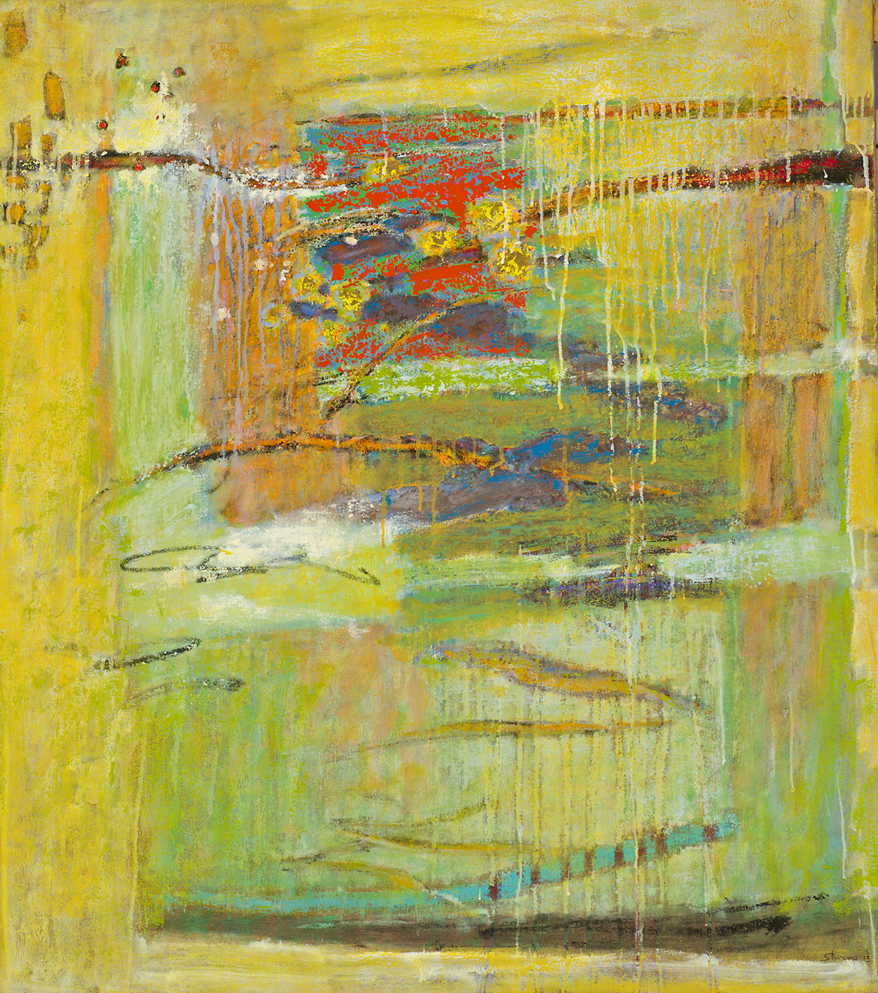 "Unexplained Phenomena     oil on canvas   41 x 36""   2013"