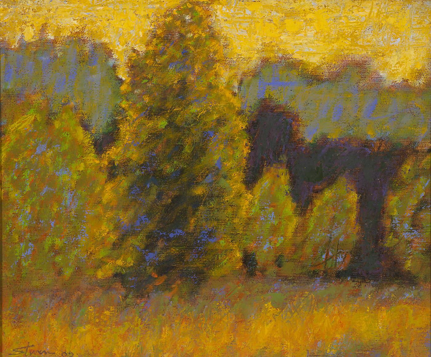 "Midsummer Light   | oil on linen | 10 x 12"" | 2000"