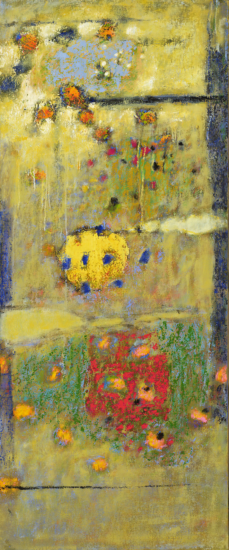 "Peaceful Neighborhood   | oil on canvas | 48 x 20"" | 2009"