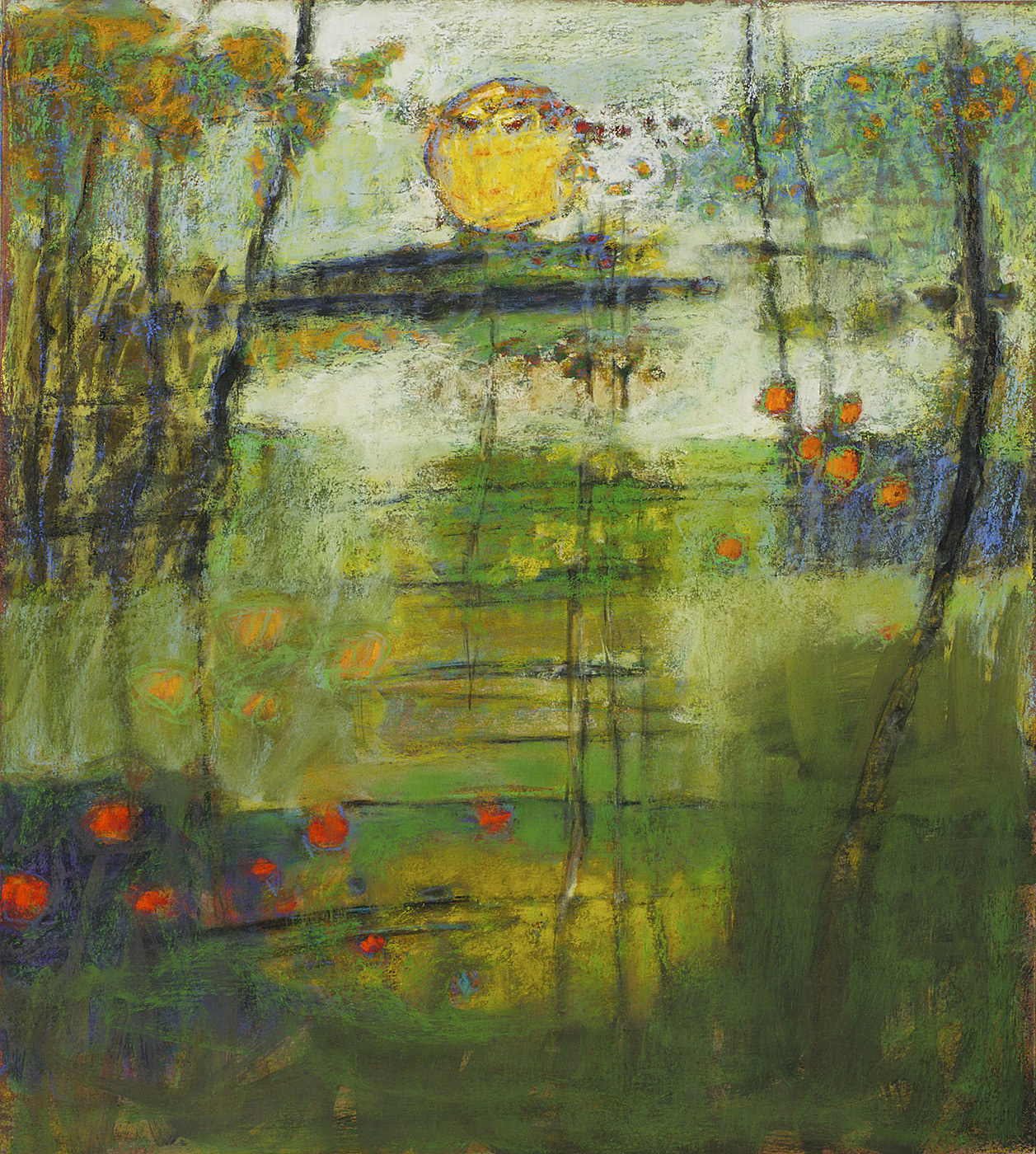 Revealing Structure   | pastel on paper | 20 x 18"