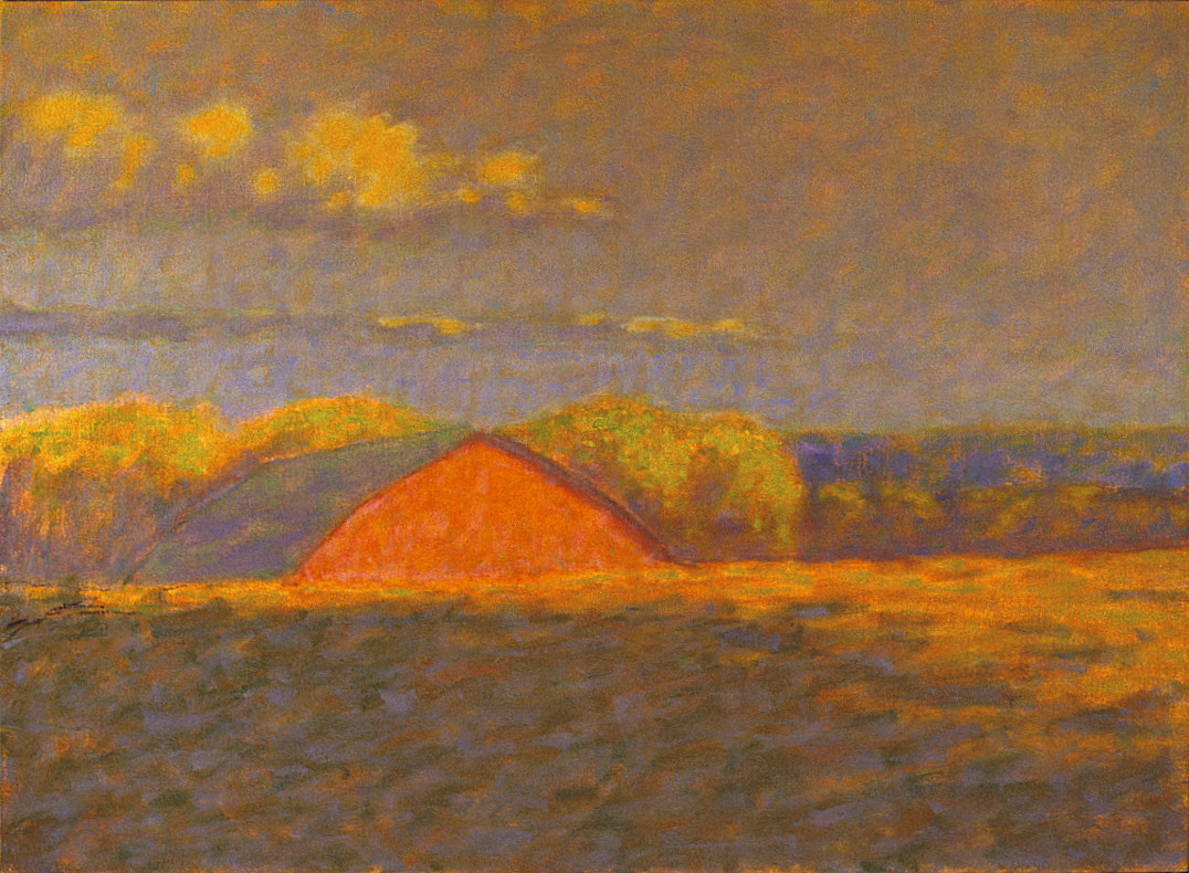 Barn Beyond Hill   | oil on canvas | 22 x 30"