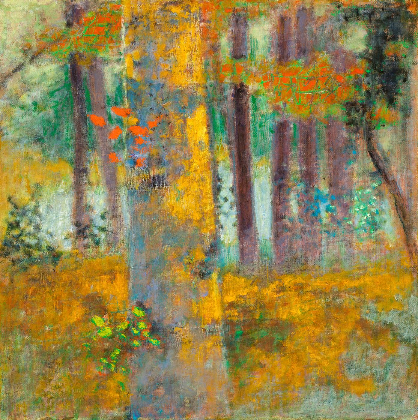 "Graceful Confrontation   | oil on linen | 14 x 14"" | 2014"