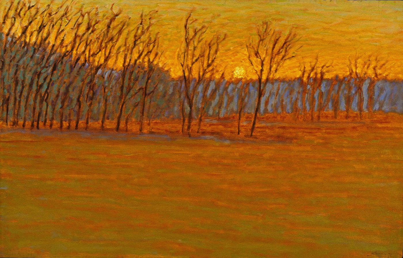 """Johnson's Field   oil on canvas   28 x 44""""   1998"""