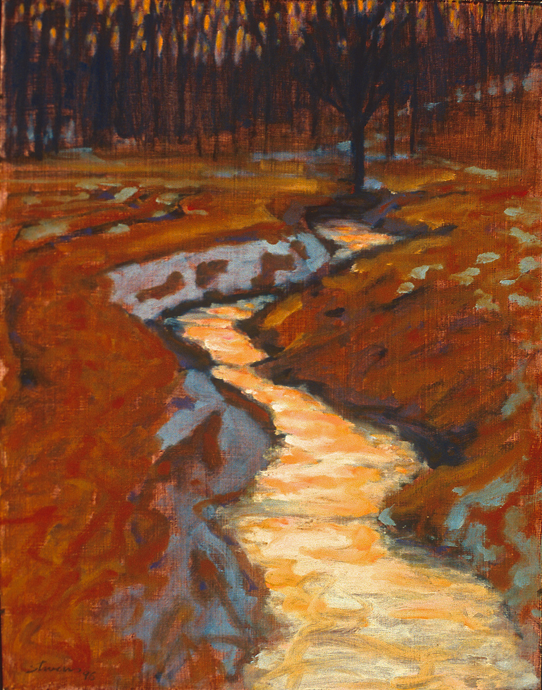 Spring Creek   | oil on panel | 15 x 12"