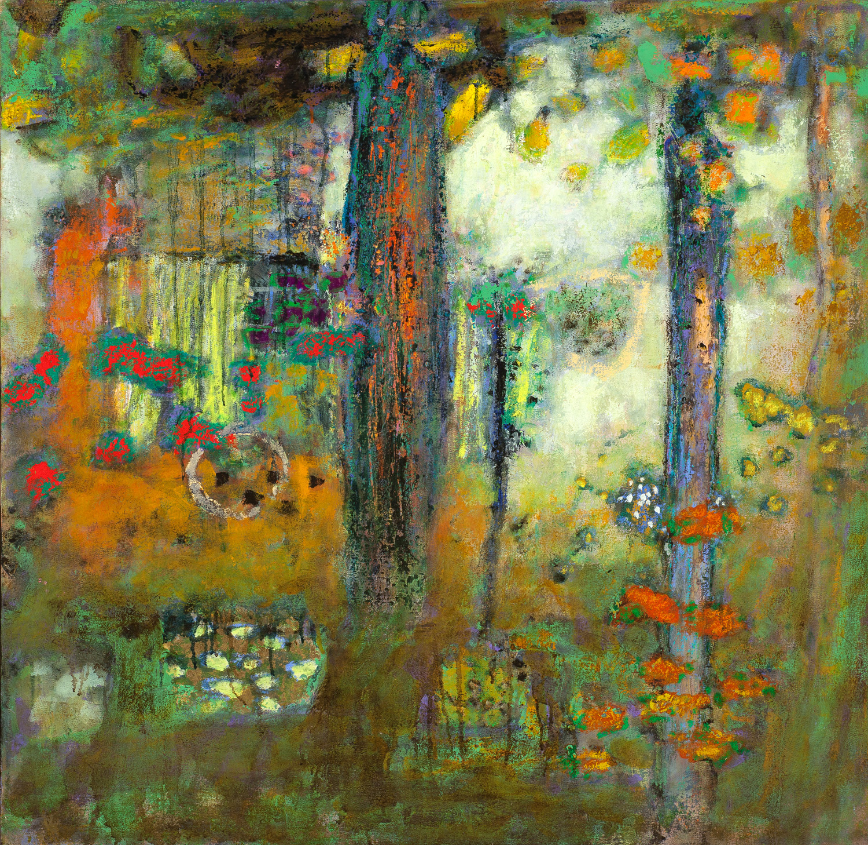 "Sacred Ecology     oil on canvas   33 x 32""   2014"