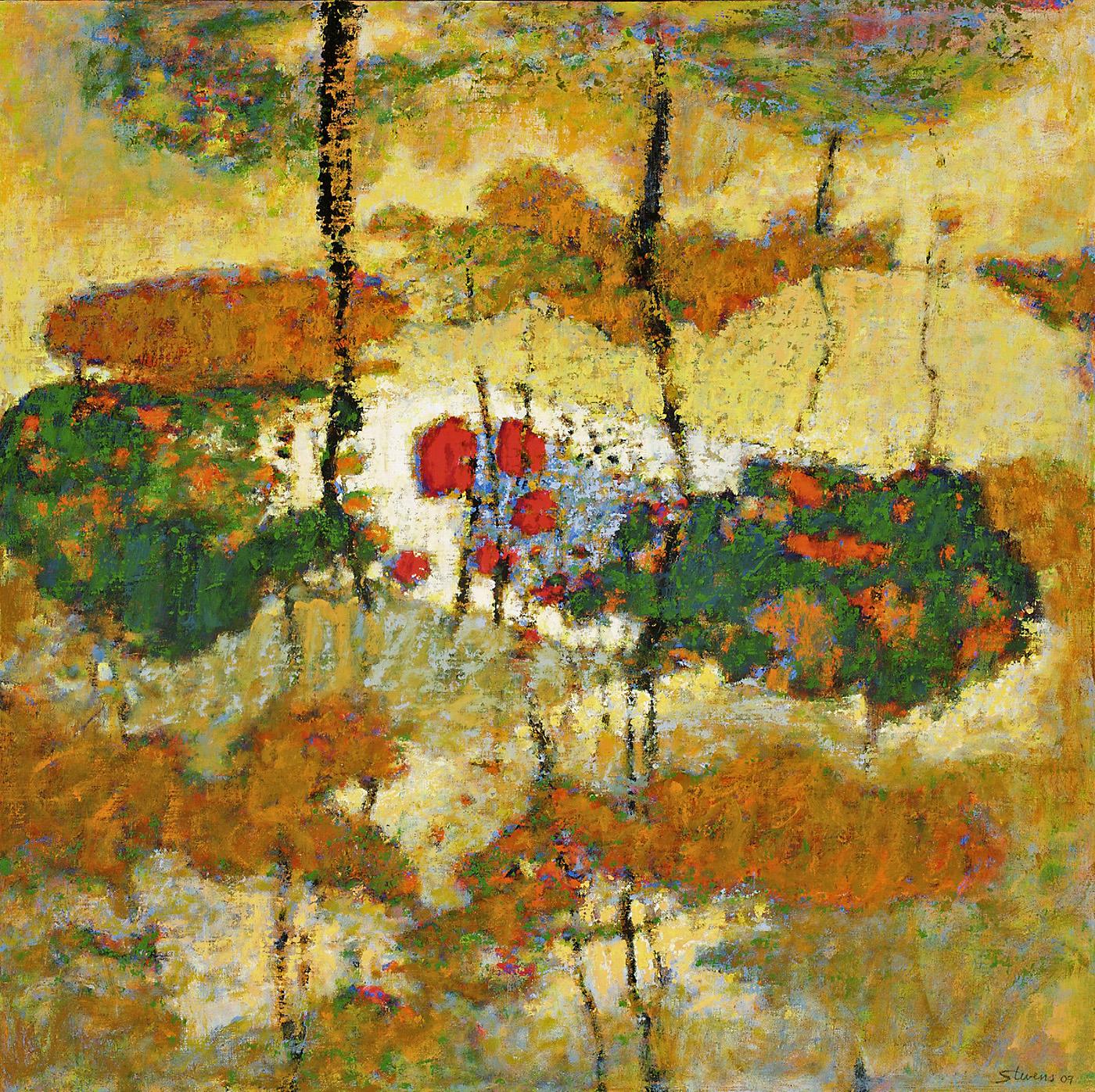 "Spoken Like a Melody   oil on canvas   30 x 30""   2009"