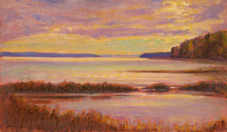 "Sutton's Bay     oil on linen   14 x 24""   2007"