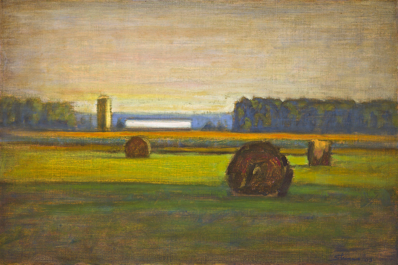 "Pastoral Harmony   | oil on linen | 12 x 18"" | 2003"