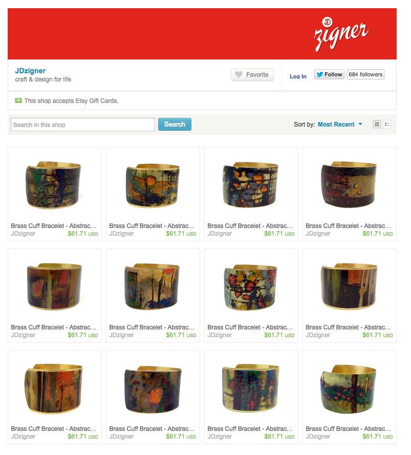 Rick's work has been incorporated into designer bracelets by Julie Dulong, see them all on her Etsy shop here |  Rick Stevens Fine Art Bracelets