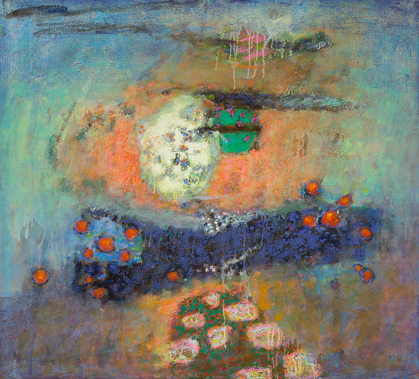 "Luminous Spaces     oil on canvas   36 x 40""   2014"