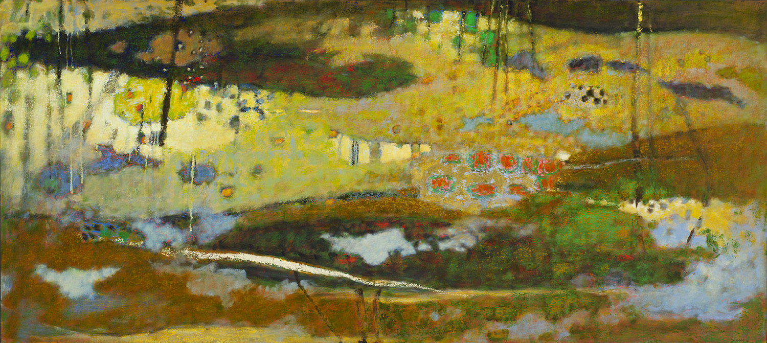 """Nothing But Life     oil on canvas   36 x 80""""   2012"""
