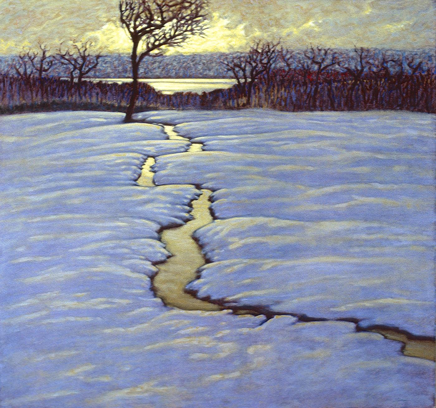 "Winter Creek   | oil on canvas | 42 x 45"" | 1995"