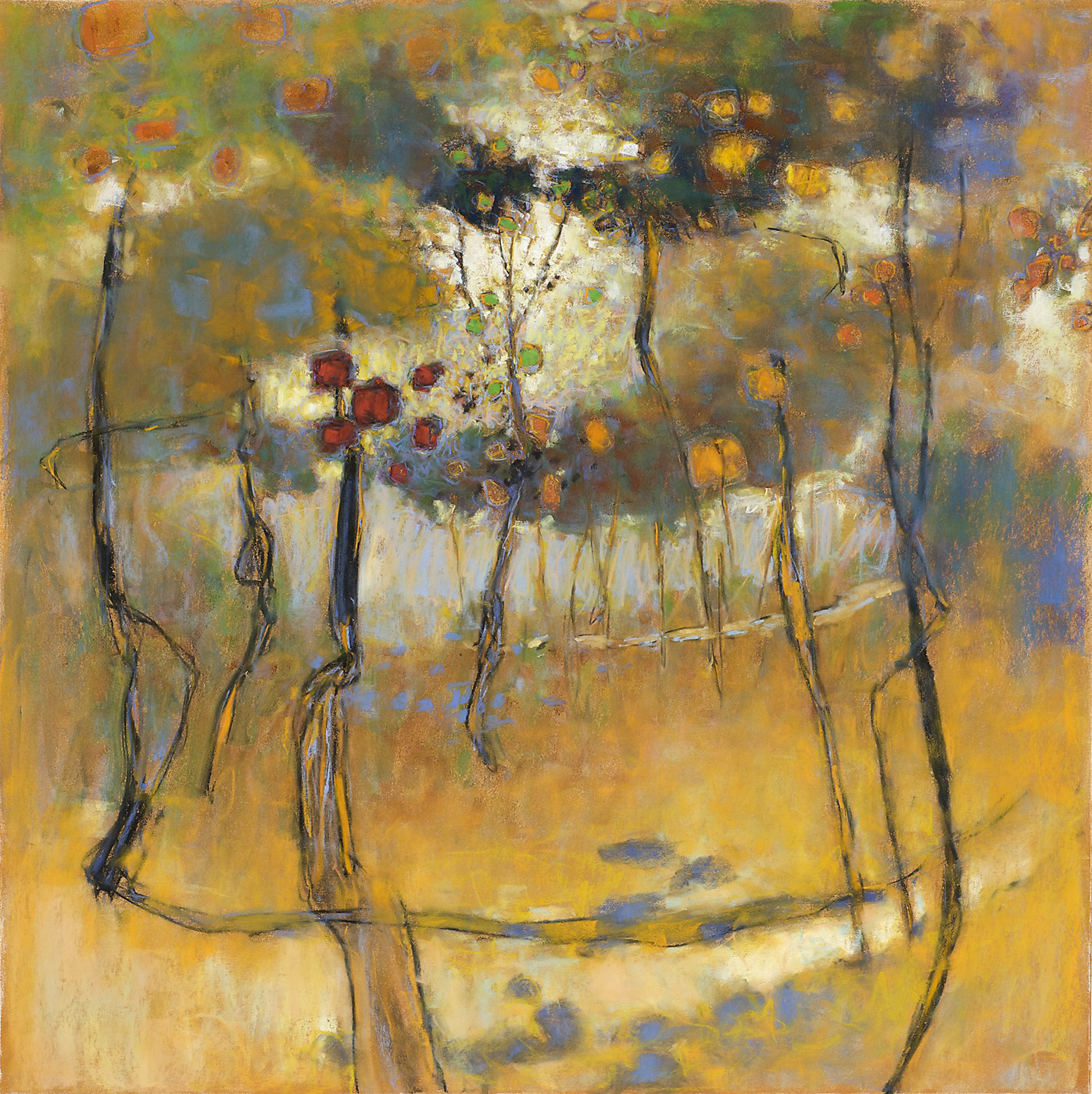 Land of Ecstasy   | pastel on paper | 30 x 30"