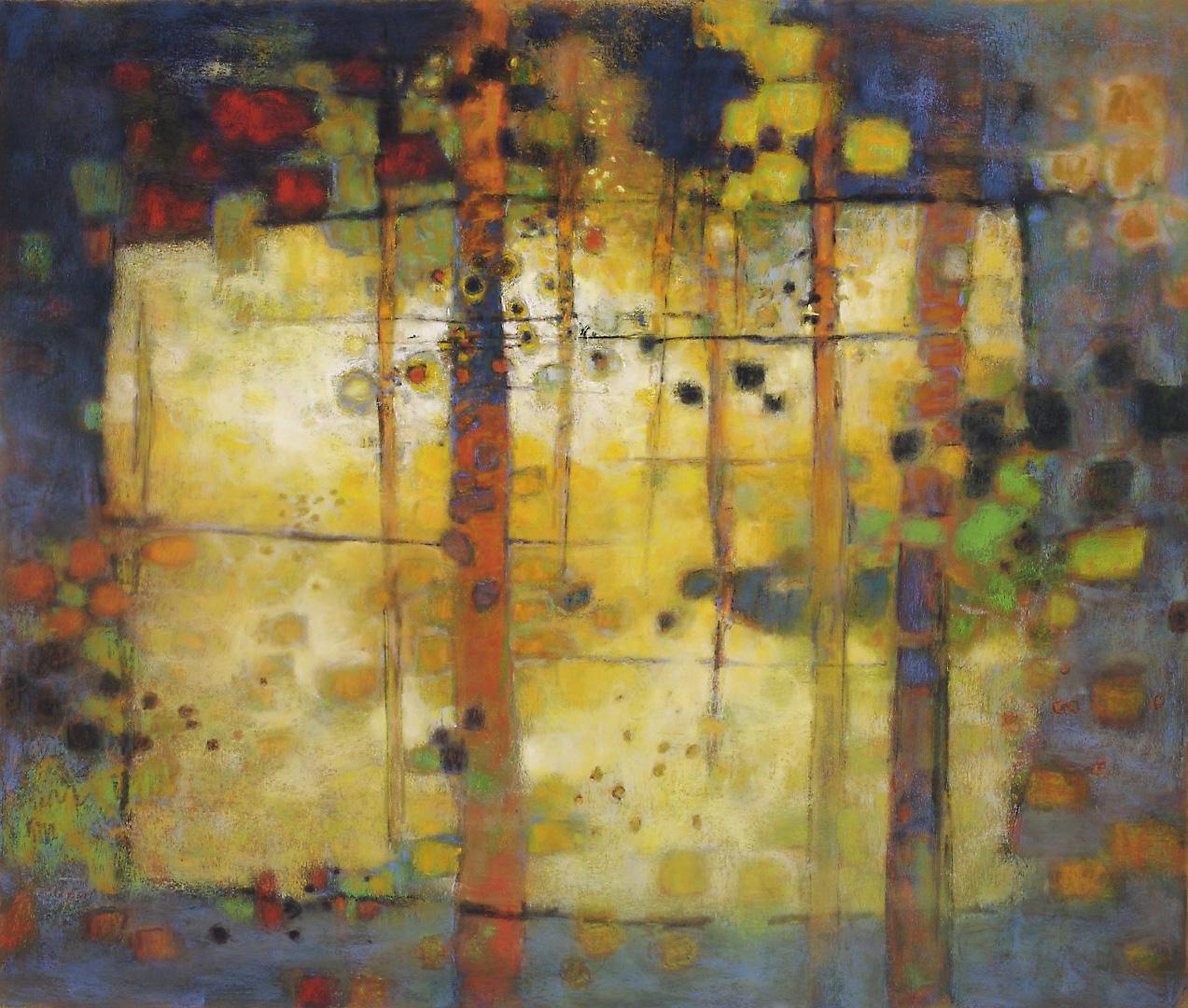 """Passage to Sanctuary     pastel on paper   30 x 44""""   2009"""