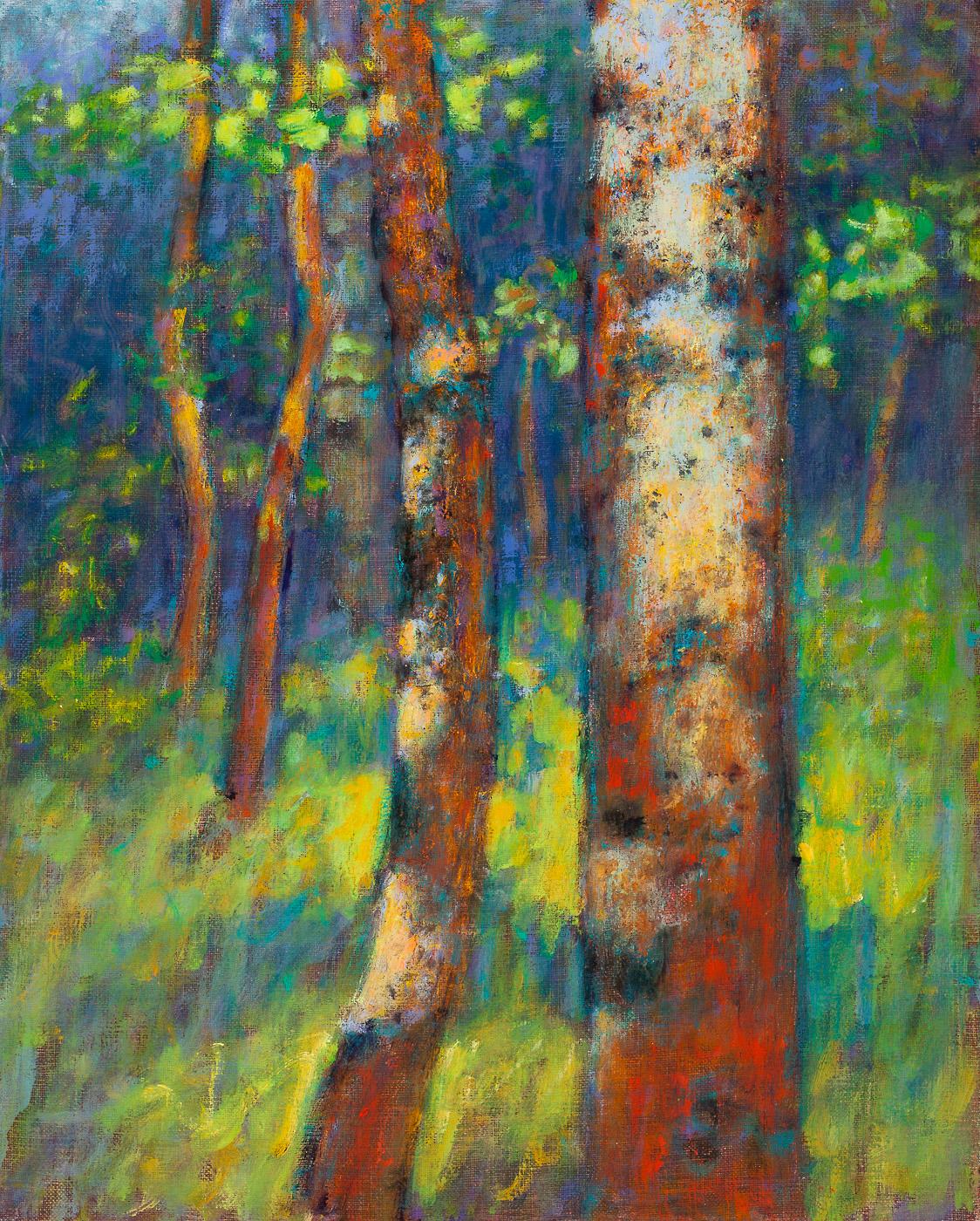 "High Mountain Aspens | oil on linen | 15 x 12"" | 2014"