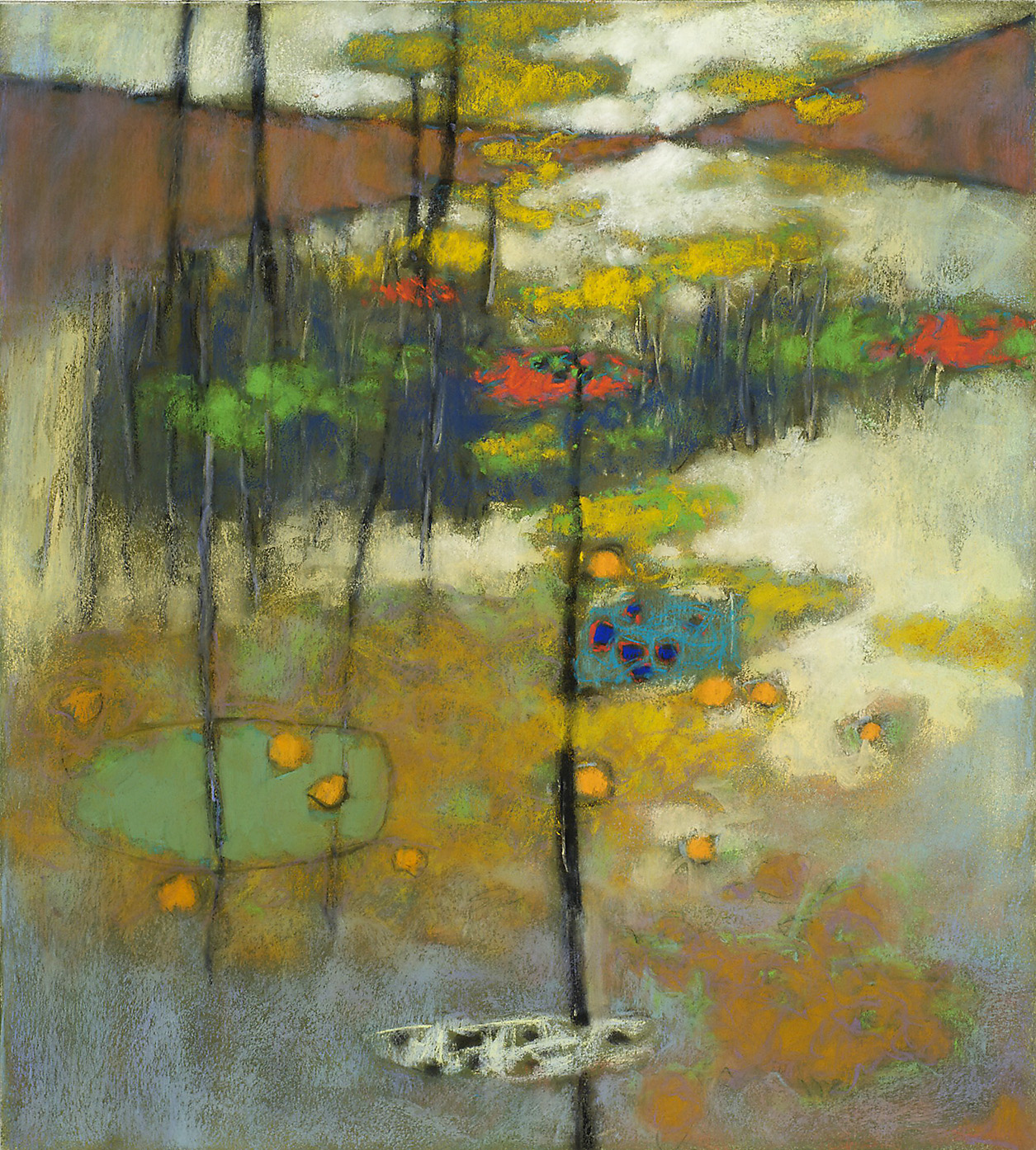 "17-12   | pastel on paper | 20 x 18"" | 2012"