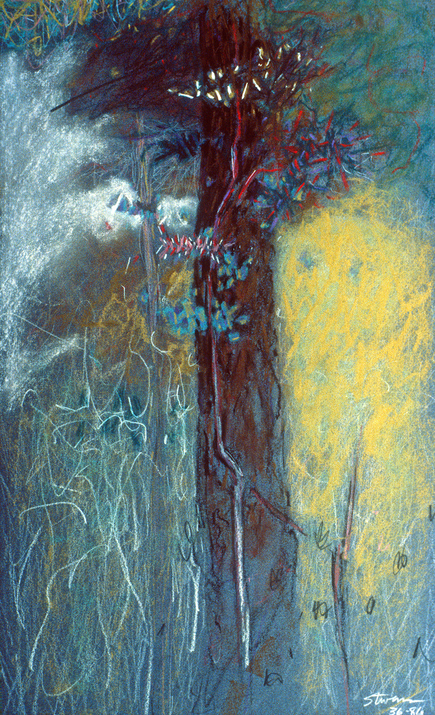 "Woods | pastel on paper | 18 x 11"" | 1986"