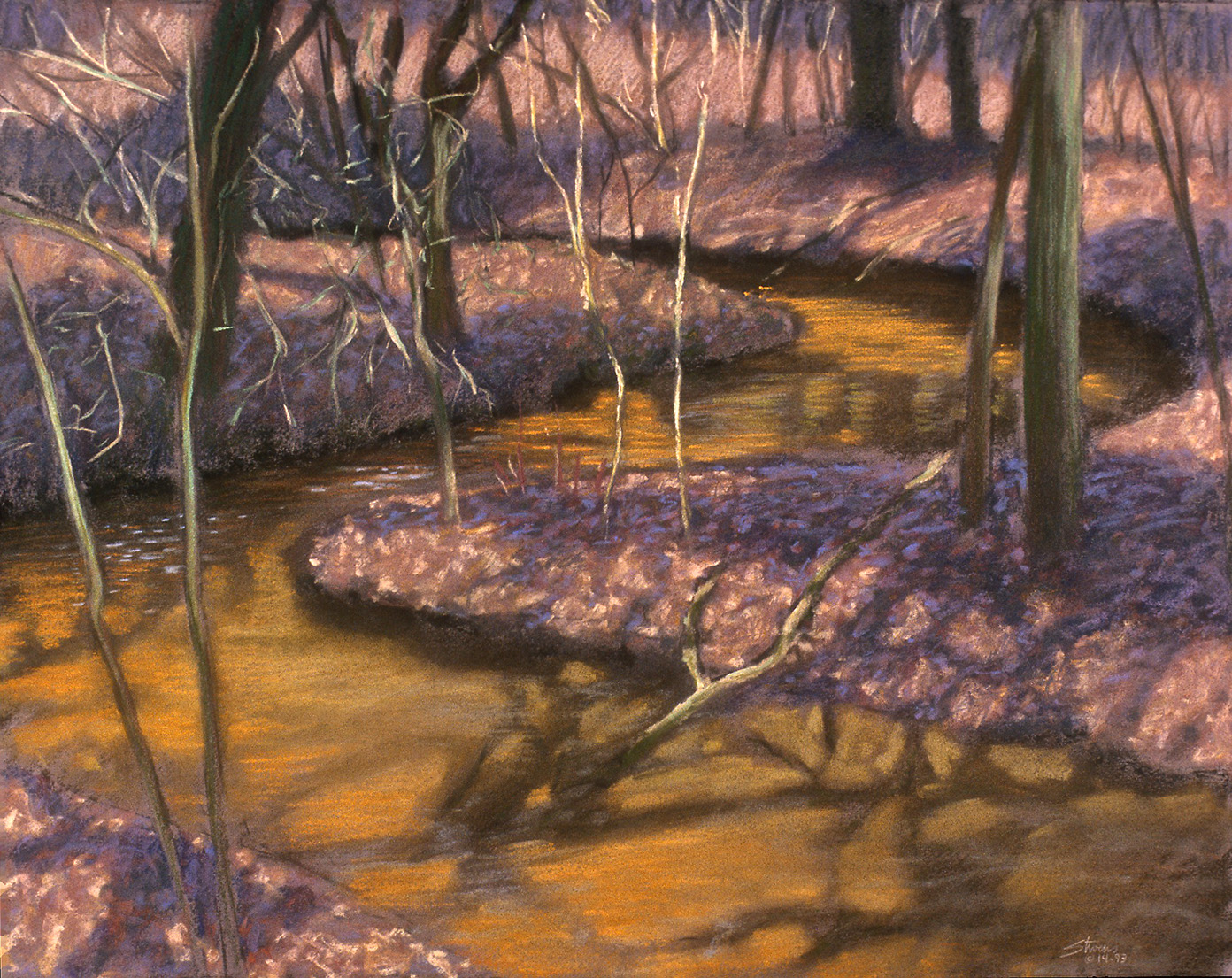 Ball Creek   | pastel on paper | 17 x 22"