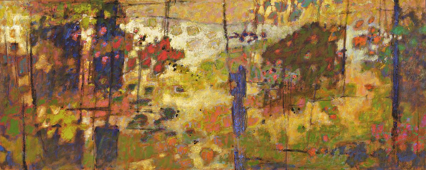 "Backlit III   | oil on canvas | 32 x 80"" | 2010"