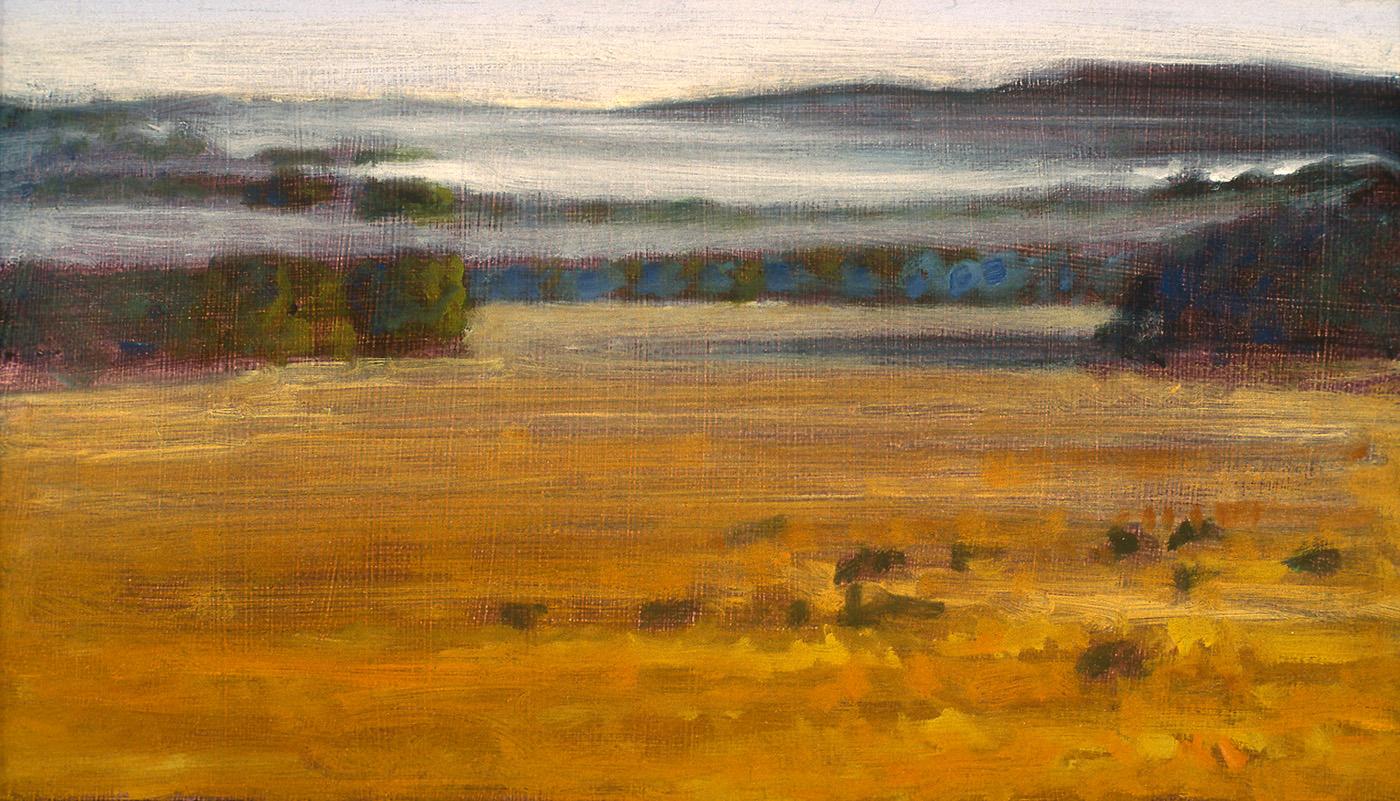 "Thinning Fog  | oil on canvas | 9 x 16"" | 1995"
