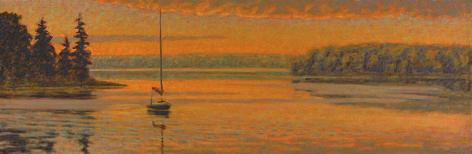 Still Harbor   | oil on canvas | 20 x 60"