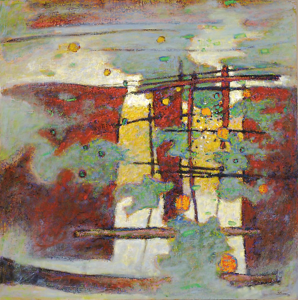 Converging Elements   | oil on linen | 48 x 48"