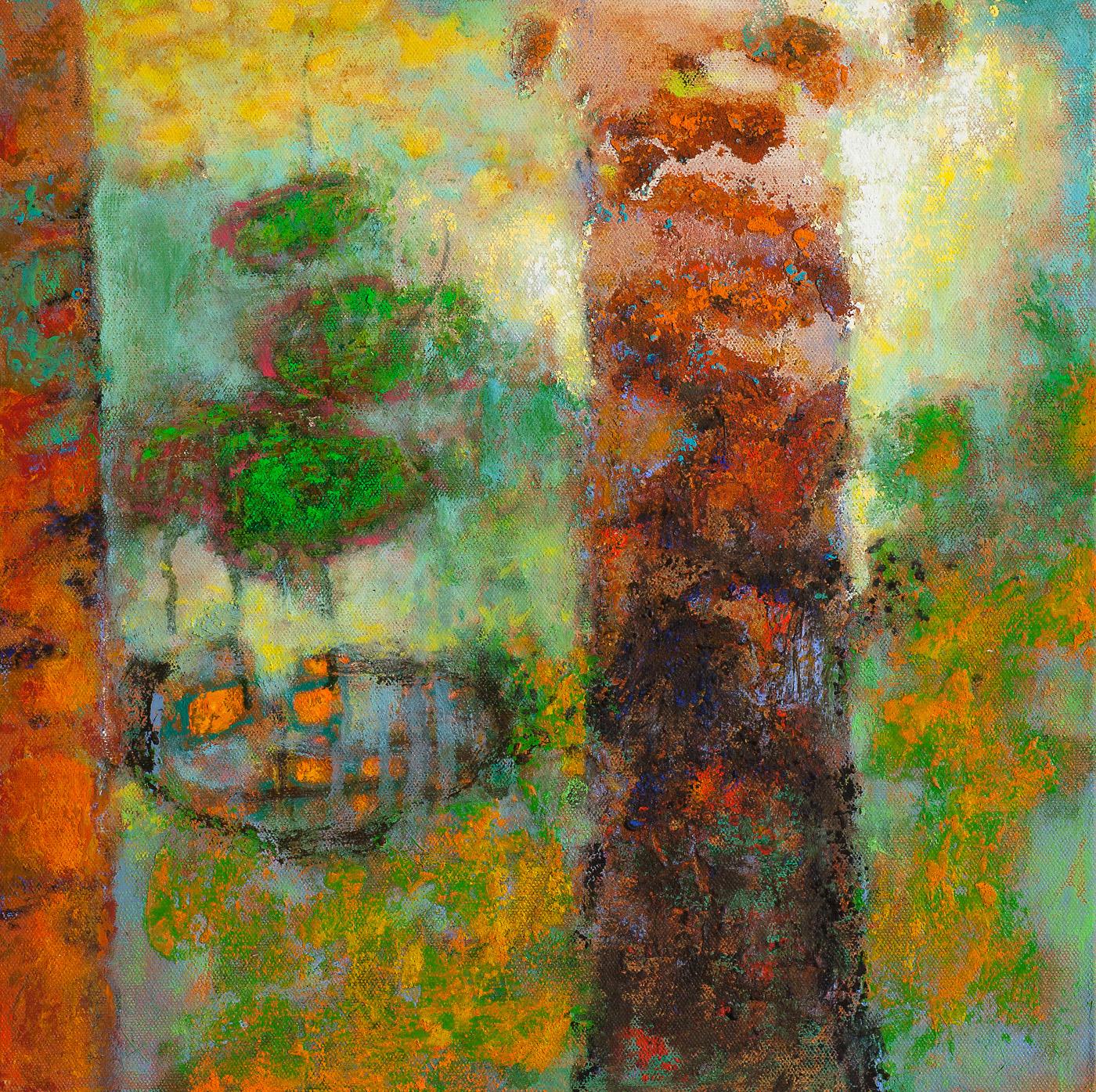 "Amazon Ceremony   | oil on canvas | 14 x 14"" | 2015  - SOLD"