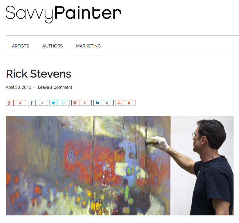 Rick Was recently interviewed by  Antrese Wood  for the Saavy Painter Podcast.     Listen at the  Savvy Painter Podcast