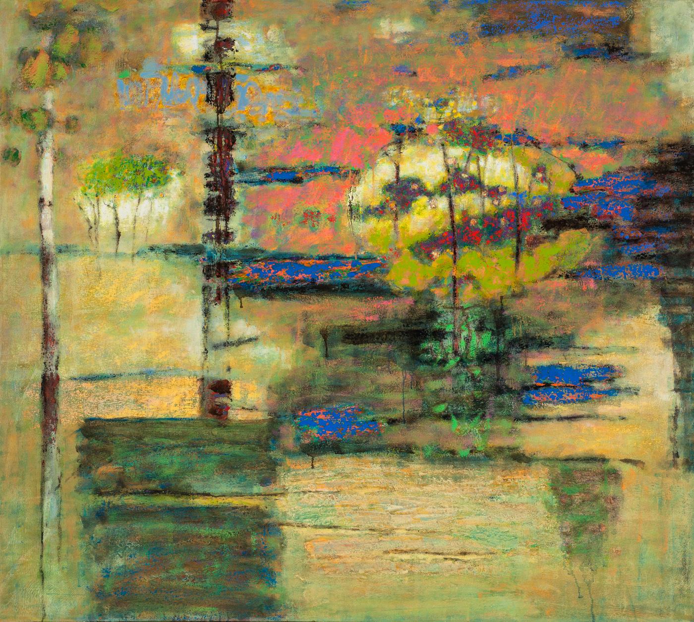 "Toward the Unknown Region     oil on canvas   48 x 54""   2015"